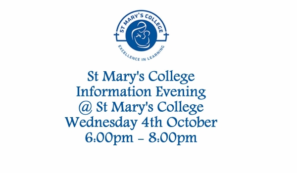 St Mary's College Information Evening